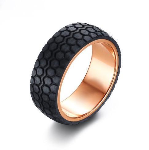 Bague pneu fibre de carbone + pochette5
