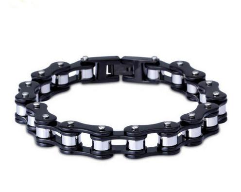 Strap Unisex black & silver + pochette4