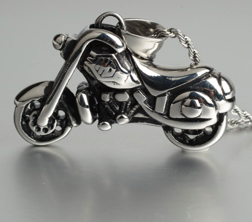 Pendentif moto custom +chaine1