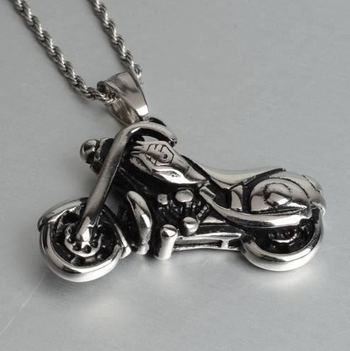 Pendentif moto custom +chaine3