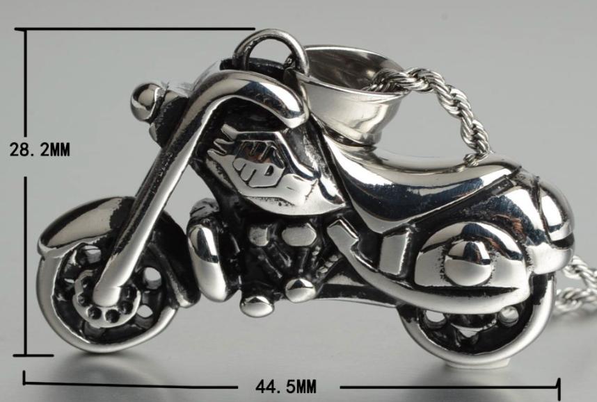 Pendentif moto custom +chaine4
